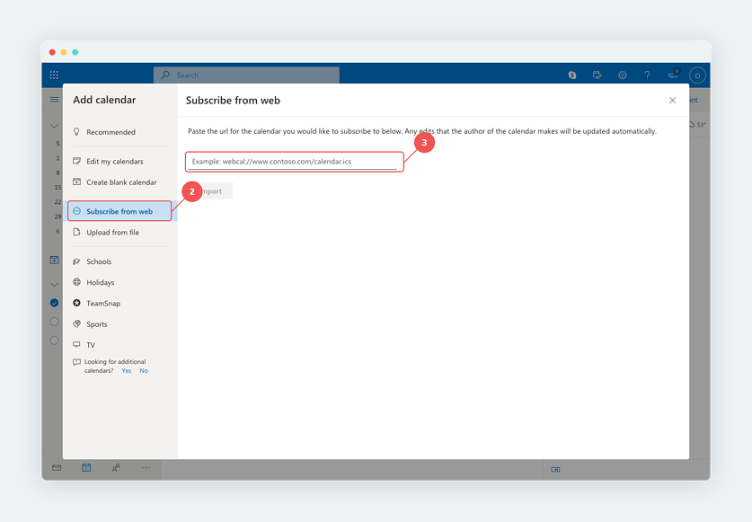 Adding a Joi subscription to Microsoft Outlook (part 2)